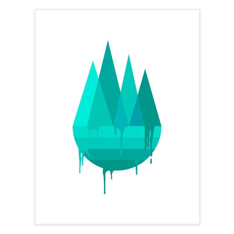 Dying Earth - The last drop - turquoise variant Home Fine Art Print by ARTinfusion - Get your's now!