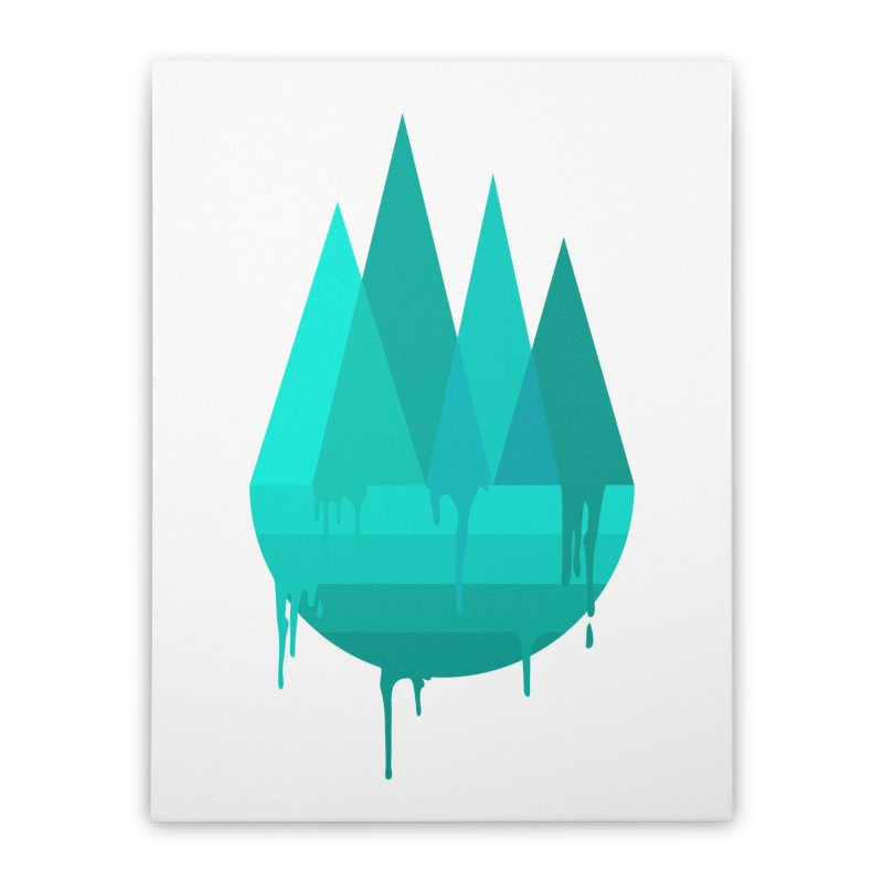 Dying Earth - The last drop - turquoise variant Home Stretched Canvas by ARTinfusion - Get your's now!