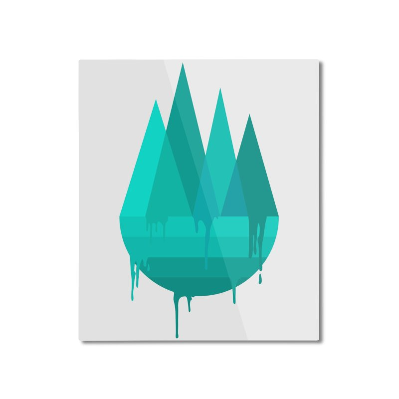 Dying Earth - The last drop - turquoise variant Home Mounted Aluminum Print by ARTinfusion - Get your's now!