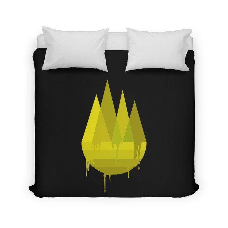 Dying Earth -The last drop - yellow variant Home Duvet by ARTinfusion - Get your's now!