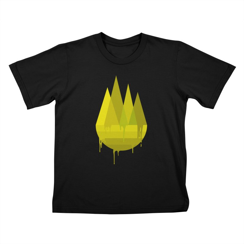 Dying Earth -The last drop - yellow variant Kids T-Shirt by ARTinfusion - Get your's now!