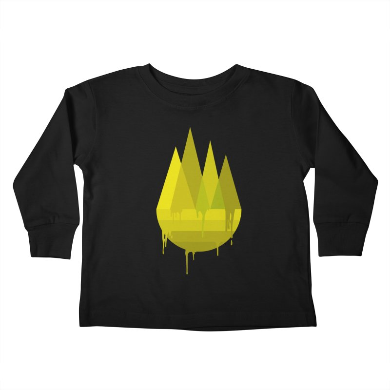 Dying Earth -The last drop - yellow variant Kids Toddler Longsleeve T-Shirt by ARTinfusion - Get your's now!
