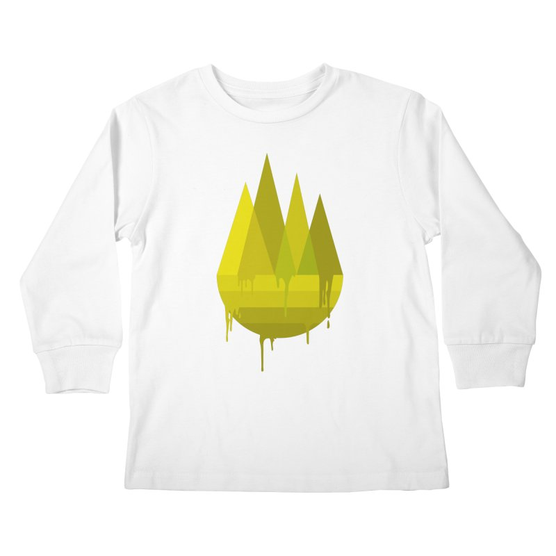 Dying Earth -The last drop - yellow variant Kids Longsleeve T-Shirt by ARTinfusion - Get your's now!