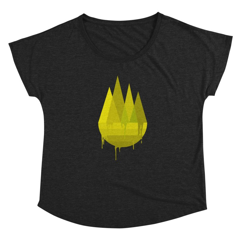 Dying Earth -The last drop - yellow variant Women's Scoop Neck by ARTinfusion - Get your's now!