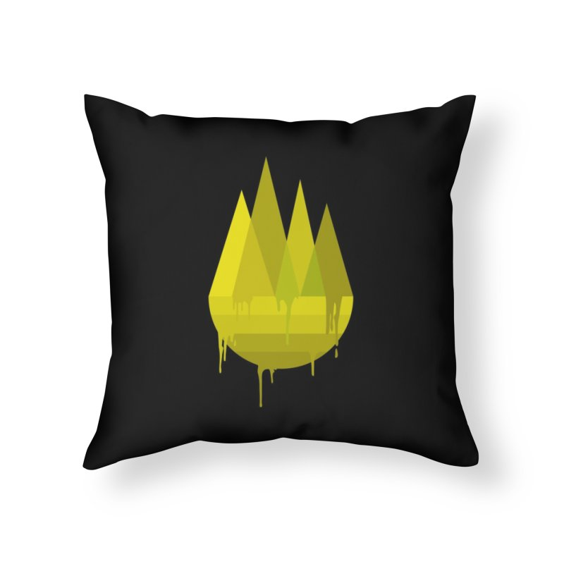 Dying Earth -The last drop - yellow variant Home Throw Pillow by ARTinfusion - Get your's now!