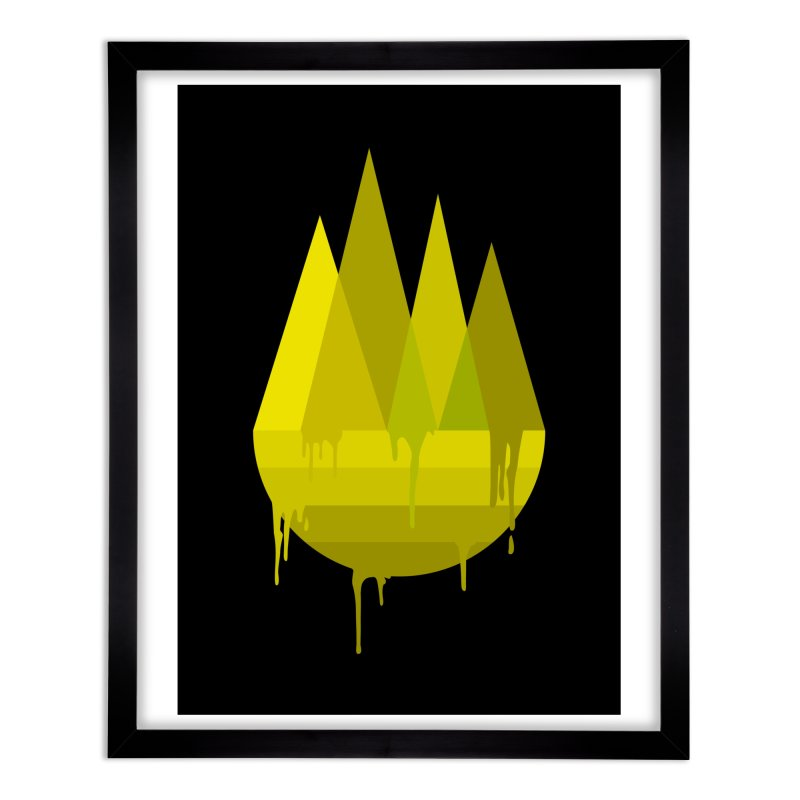 Dying Earth -The last drop - yellow variant Home Framed Fine Art Print by ARTinfusion - Get your's now!