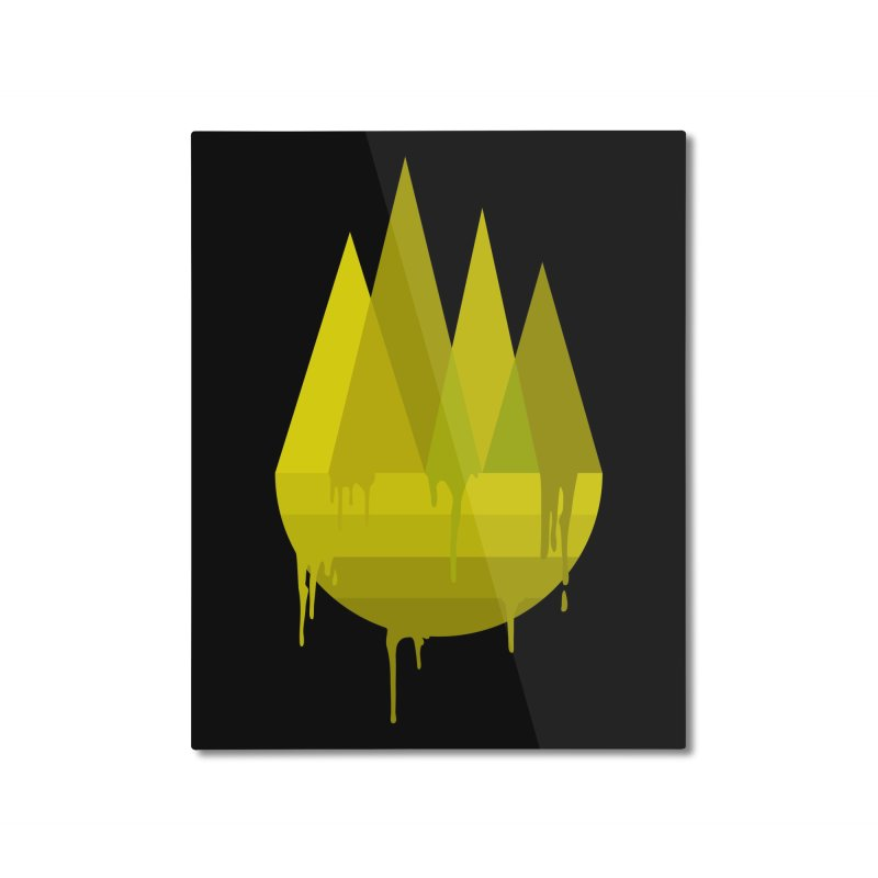 Dying Earth -The last drop - yellow variant Home Mounted Aluminum Print by ARTinfusion - Get your's now!