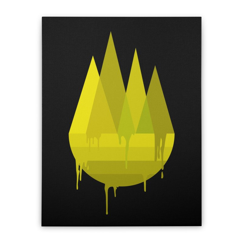 Dying Earth -The last drop - yellow variant Home Stretched Canvas by ARTinfusion - Get your's now!