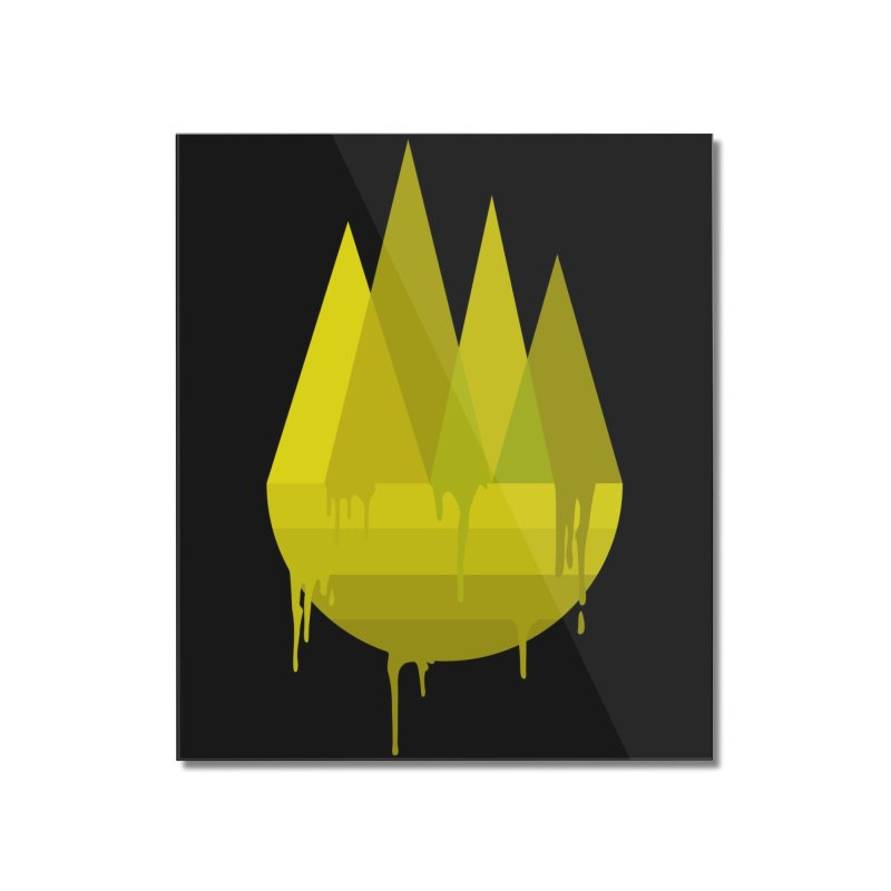Dying Earth -The last drop - yellow variant Home Mounted Acrylic Print by ARTinfusion - Get your's now!