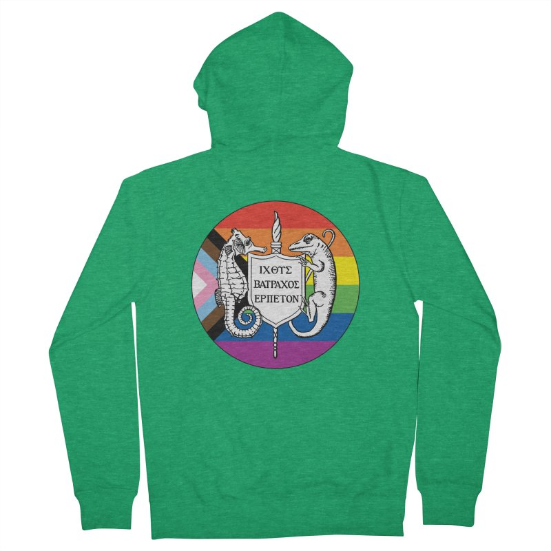 Inclusive Logo Large Men Zip-Up Hoody by Amer. Society of Ichthyologists & Herpetologists