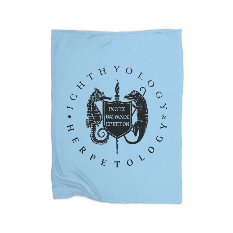Ichthyology & Herpetology Black Logo Home Goods Blanket by Amer. Society of Ichthyologists & Herpetologists