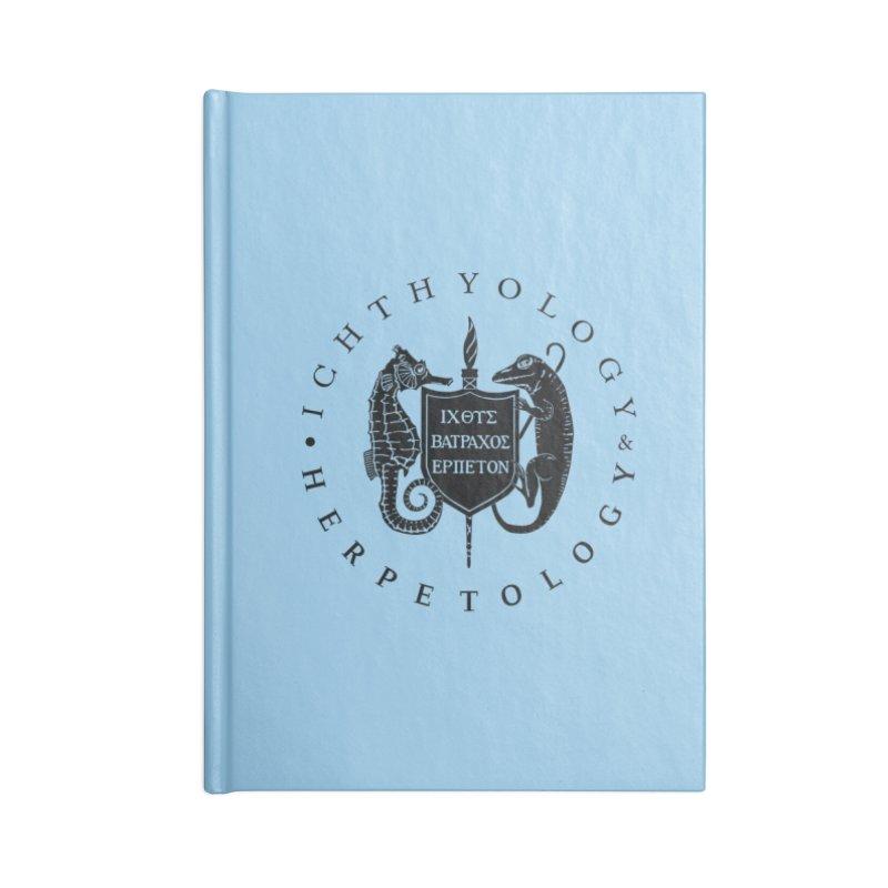 Ichthyology & Herpetology Black Logo Masks, Mugs, Notebooks, and Fun Stuff Notebook by Amer. Society of Ichthyologists & Herpetologists