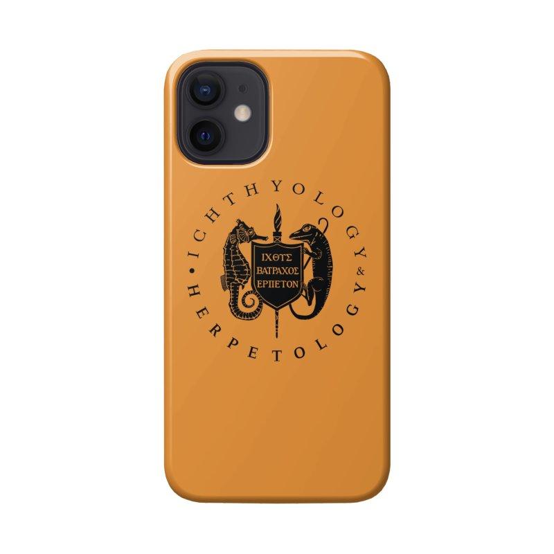 Ichthyology & Herpetology Black Logo Masks, Mugs, Notebooks, and Fun Stuff Phone Case by Amer. Society of Ichthyologists & Herpetologists
