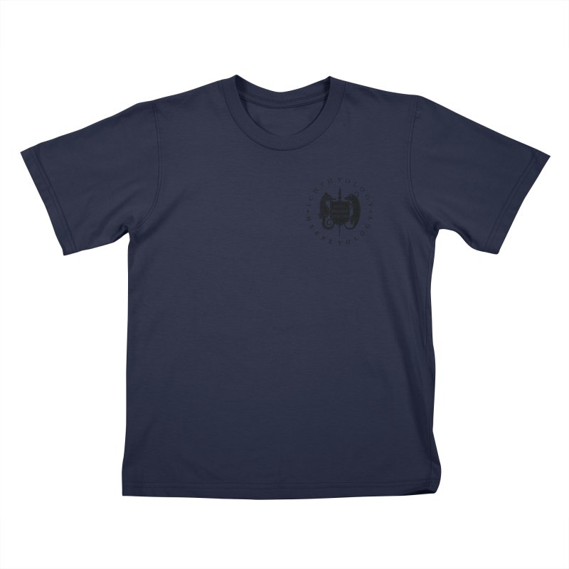 Ichthyology & Herpetology Black Logo Kids and Babies T-Shirt by Amer. Society of Ichthyologists & Herpetologists