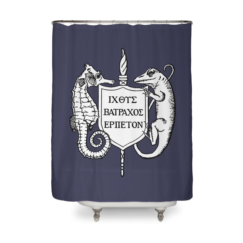 Logo Home Goods Shower Curtain by Amer. Society of Ichthyologists & Herpetologists