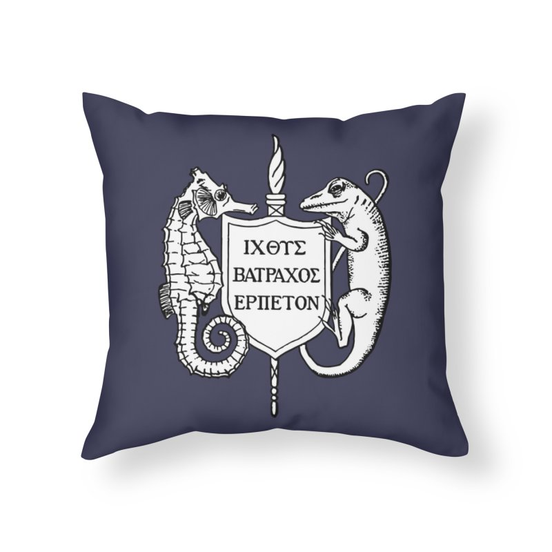 Logo Home Goods Throw Pillow by Amer. Society of Ichthyologists & Herpetologists