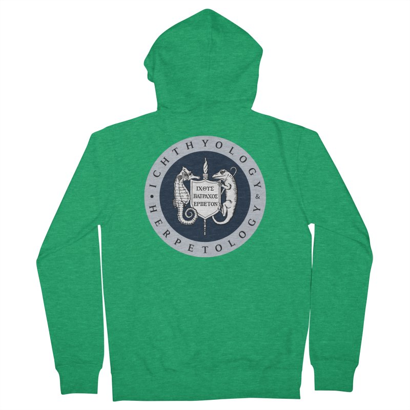 Ichthyology & Herpetology Color Logo — Large Women Zip-Up Hoody by Amer. Society of Ichthyologists & Herpetologists