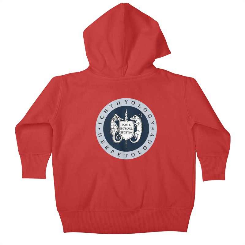 Ichthyology & Herpetology Color Logo — Large Kids and Babies Baby Zip-Up Hoody by Amer. Society of Ichthyologists & Herpetologists