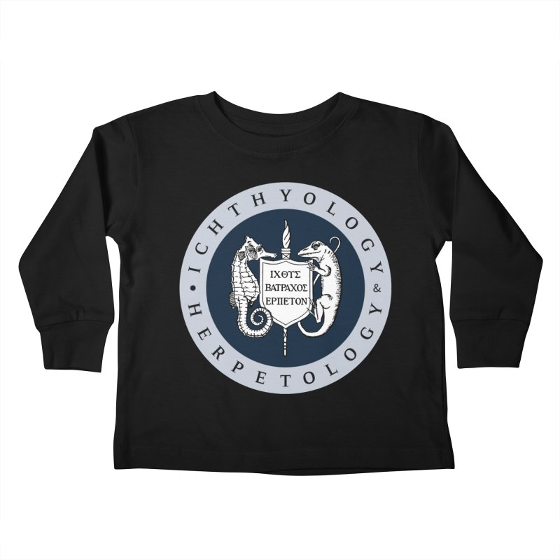 Ichthyology & Herpetology Color Logo — Large Kids and Babies Toddler Longsleeve T-Shirt by Amer. Society of Ichthyologists & Herpetologists