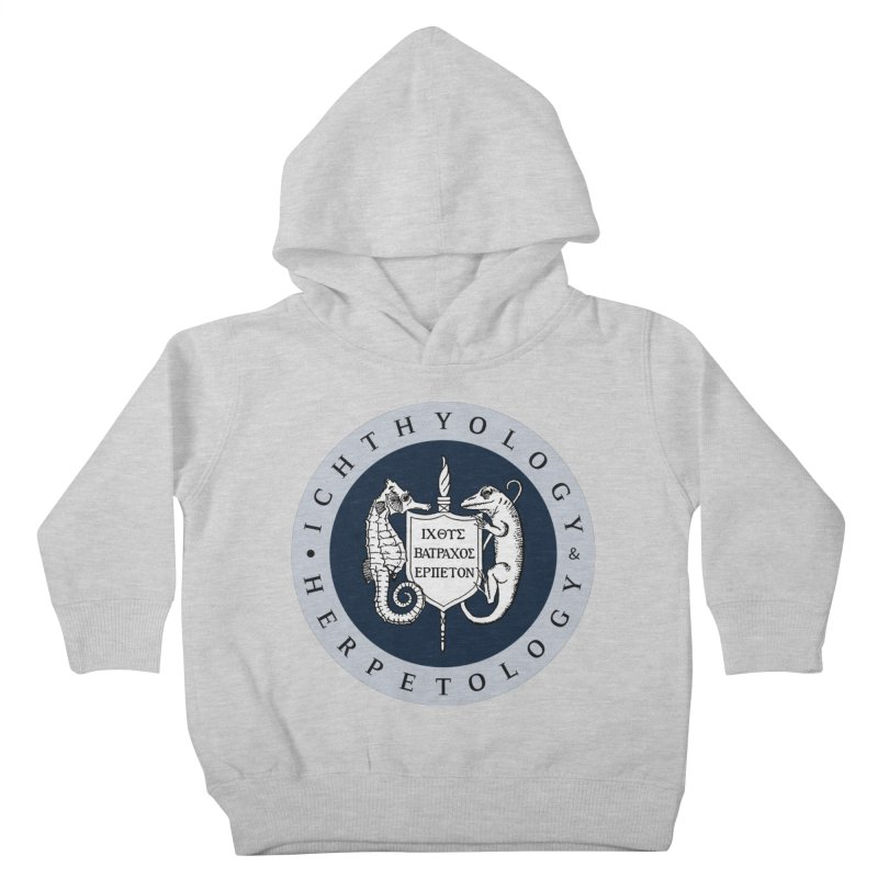 Ichthyology & Herpetology Color Logo — Large Kids and Babies Toddler Pullover Hoody by Amer. Society of Ichthyologists & Herpetologists
