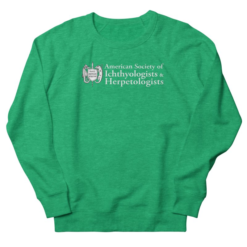 American Society of Ichthyologists and Herpetologists White with Logo Women Sweatshirt by Amer. Society of Ichthyologists & Herpetologists