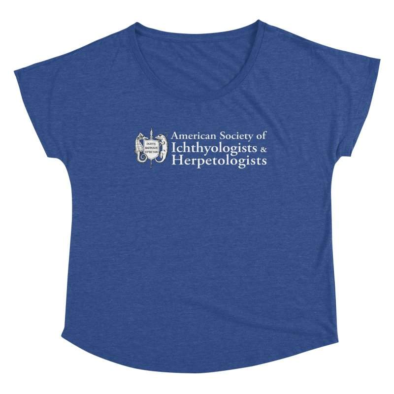 American Society of Ichthyologists and Herpetologists White with Logo Women Scoop Neck by Amer. Society of Ichthyologists & Herpetologists
