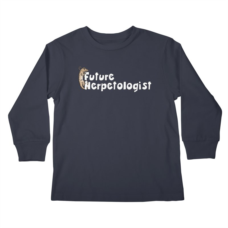 Future Herpetologist Brown and White Kids and Babies Longsleeve T-Shirt by Amer. Society of Ichthyologists & Herpetologists