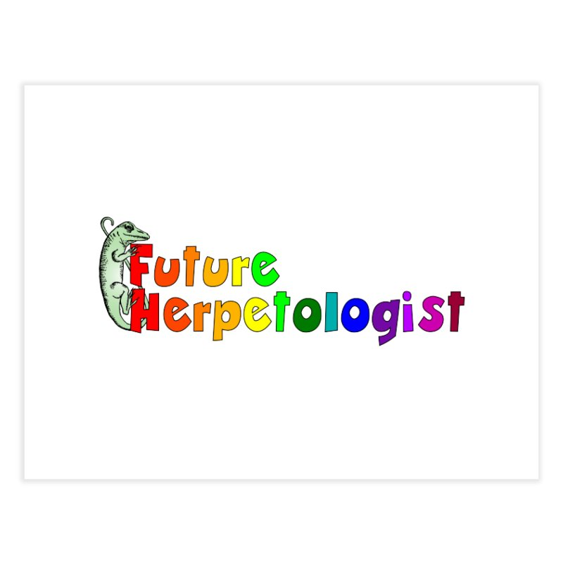 Future Herpetologist Rainbow Home Goods Fine Art Print by Amer. Society of Ichthyologists & Herpetologists