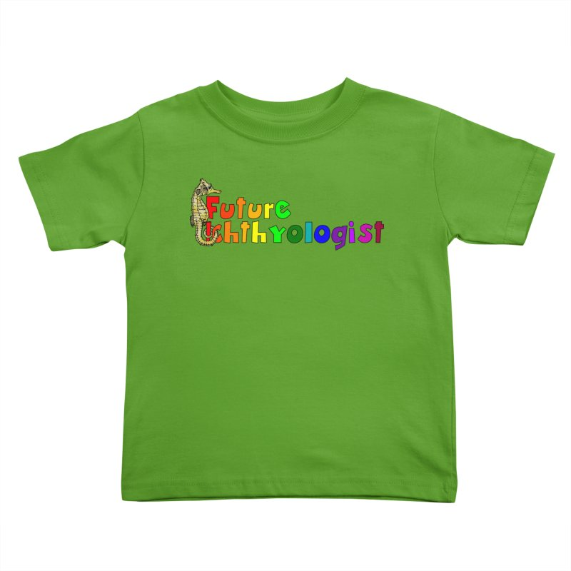 Future Ichthyologist Rainbow Kids and Babies Toddler T-Shirt by Amer. Society of Ichthyologists & Herpetologists