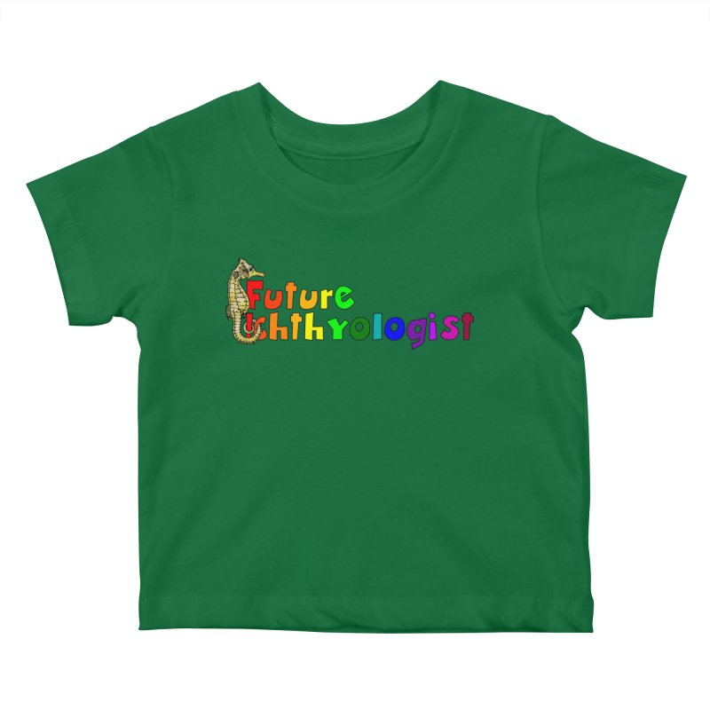 Future Ichthyologist Rainbow Kids and Babies Baby T-Shirt by Amer. Society of Ichthyologists & Herpetologists