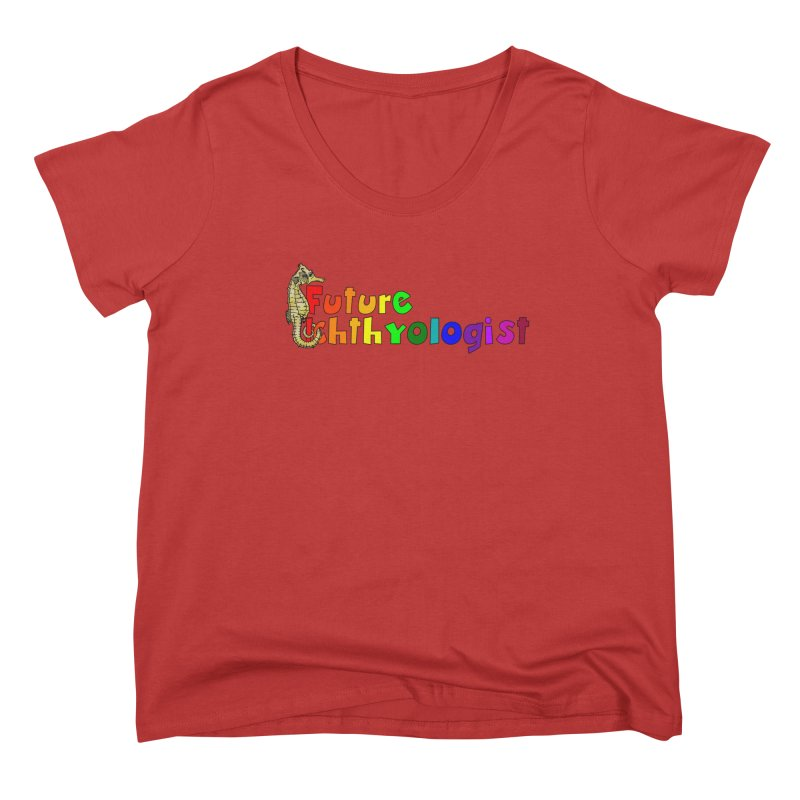 Future Ichthyologist Rainbow Women Scoop Neck by Amer. Society of Ichthyologists & Herpetologists