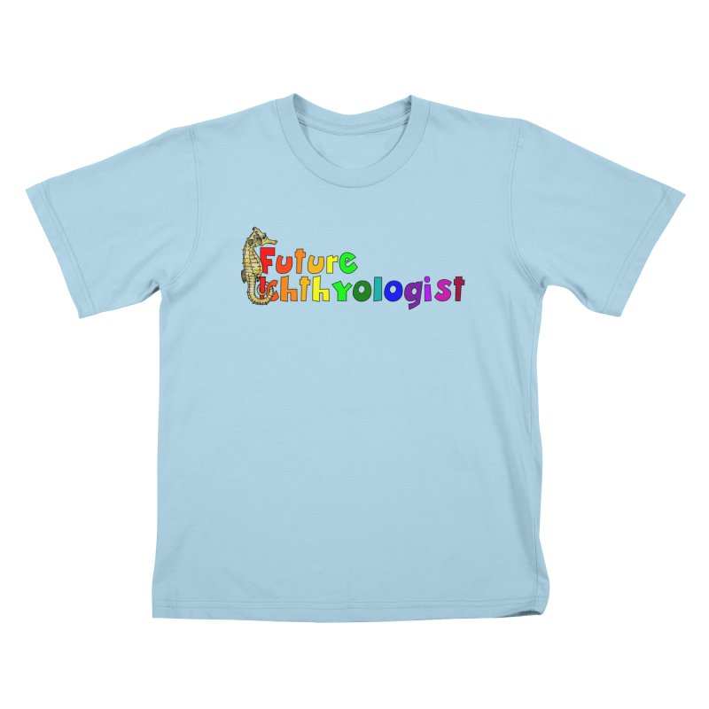Future Ichthyologist Rainbow Kids and Babies T-Shirt by Amer. Society of Ichthyologists & Herpetologists