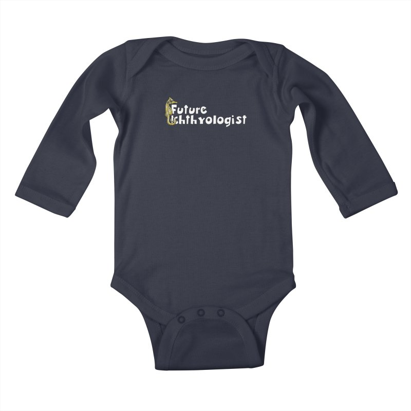 Future Ichthyologist Yellow and White Kids and Babies Baby Longsleeve Bodysuit by Amer. Society of Ichthyologists & Herpetologists