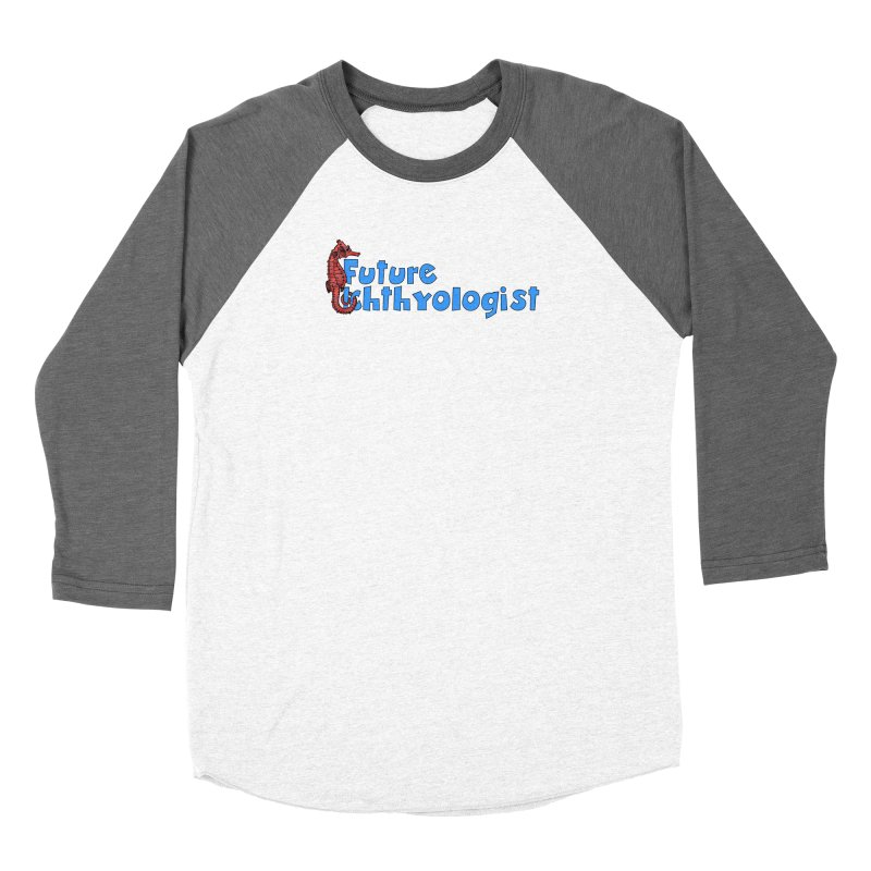 Future Ichthyologist Blue and Red Women Longsleeve T-Shirt by Amer. Society of Ichthyologists & Herpetologists