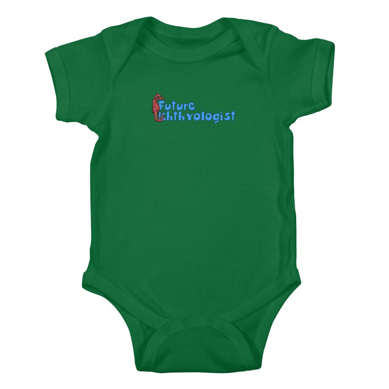 Future Ichthyologist Blue and Red Kids and Babies Baby Bodysuit by Amer. Society of Ichthyologists & Herpetologists