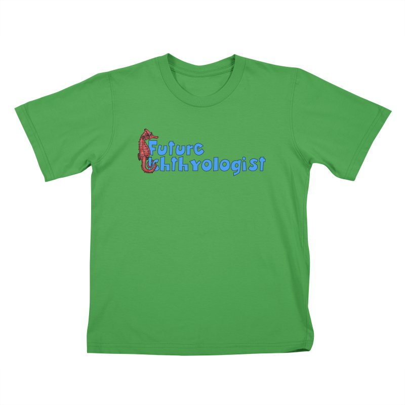 Future Ichthyologist Blue and Red Kids and Babies T-Shirt by Amer. Society of Ichthyologists & Herpetologists