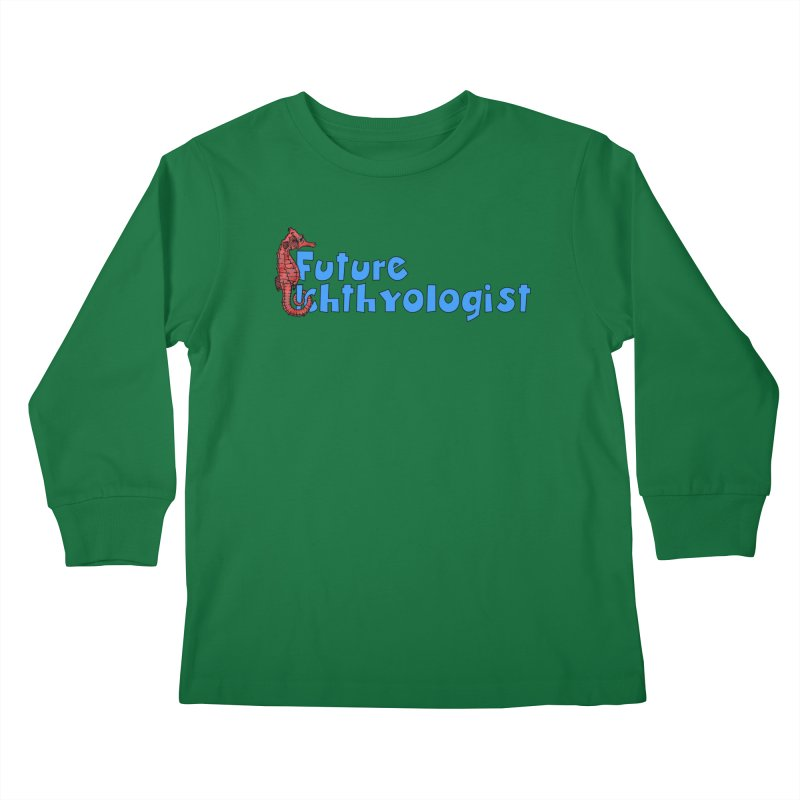Future Ichthyologist Blue and Red Kids and Babies Longsleeve T-Shirt by Amer. Society of Ichthyologists & Herpetologists