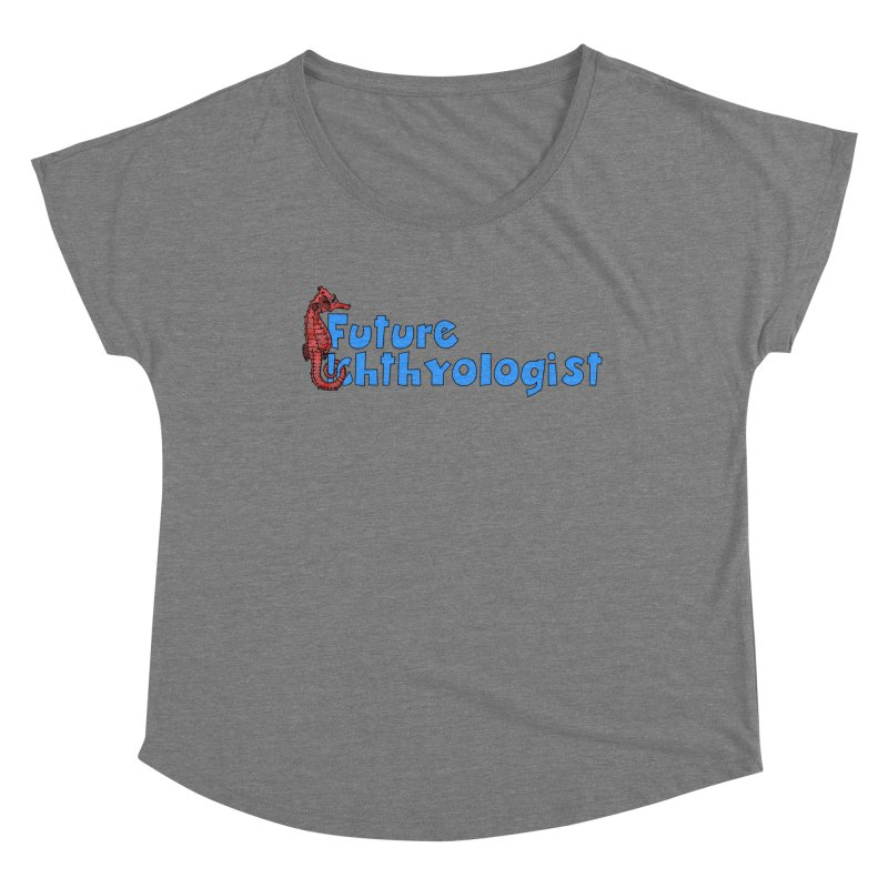Future Ichthyologist Blue and Red Women Scoop Neck by Amer. Society of Ichthyologists & Herpetologists