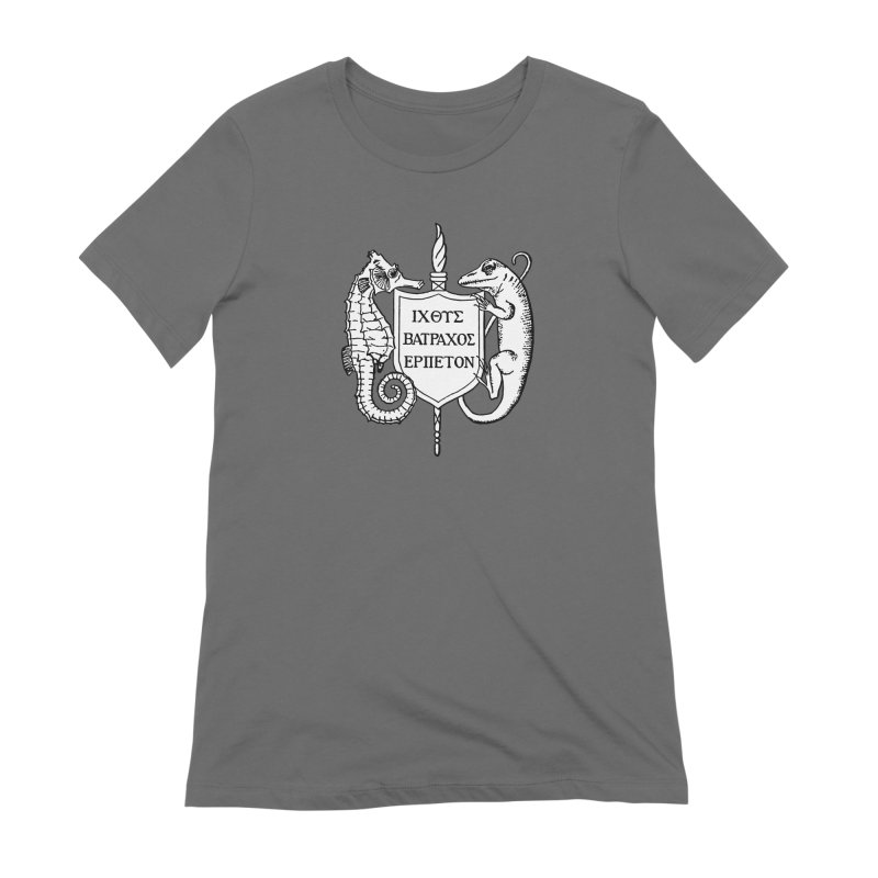 ASIH White Logo—Large Women T-Shirt by Amer. Society of Ichthyologists & Herpetologists