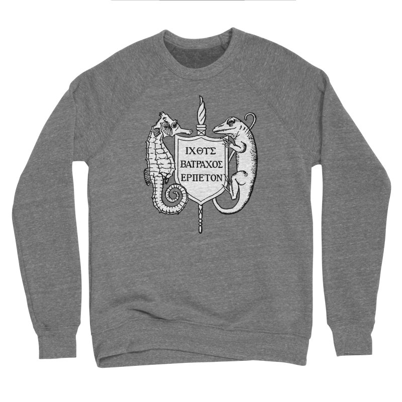ASIH White Logo—Large Men Sweatshirt by Amer. Society of Ichthyologists & Herpetologists