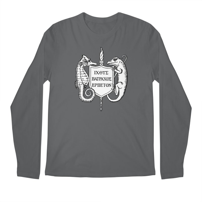 ASIH White Logo—Large Men Longsleeve T-Shirt by Amer. Society of Ichthyologists & Herpetologists