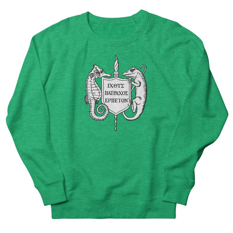 ASIH White Logo—Large Women Sweatshirt by Amer. Society of Ichthyologists & Herpetologists