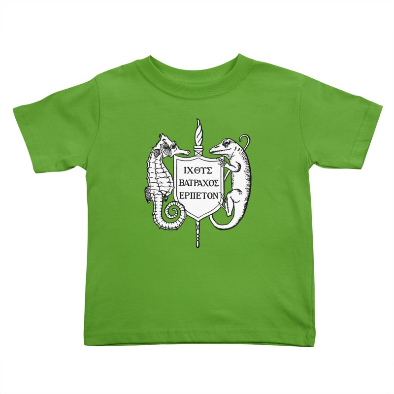 ASIH White Logo—Large Kids and Babies Toddler T-Shirt by Amer. Society of Ichthyologists & Herpetologists