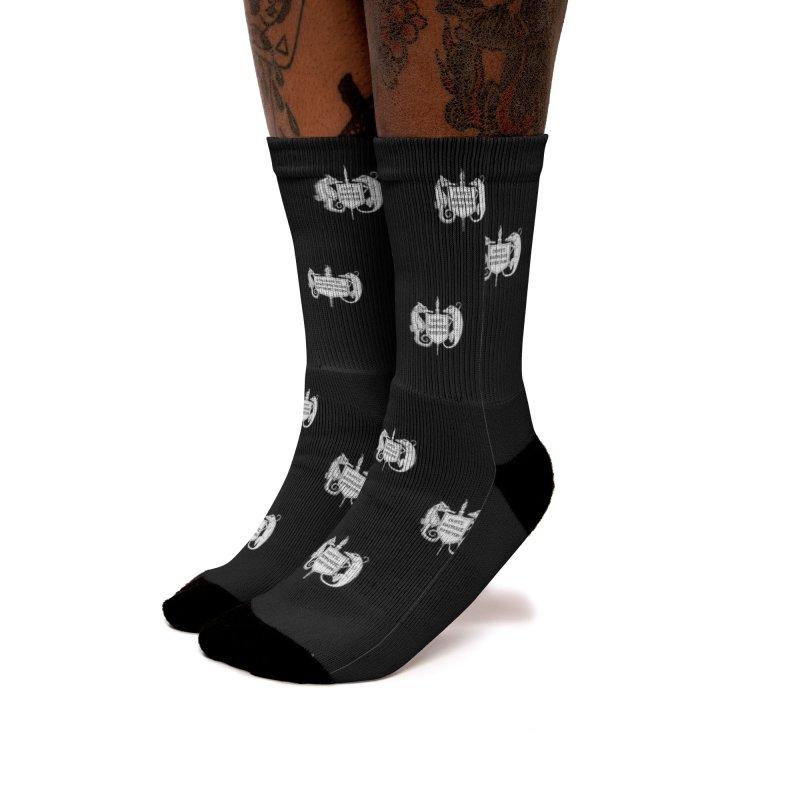 ASIH White Logo—Large Women Socks by Amer. Society of Ichthyologists & Herpetologists