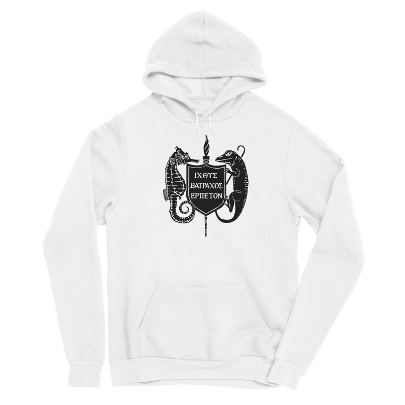 ASIH Black Logo—Large Men Pullover Hoody by Amer. Society of Ichthyologists & Herpetologists