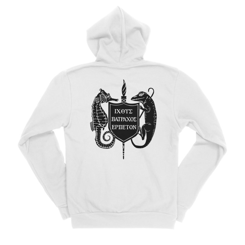 ASIH Black Logo—Large Men Zip-Up Hoody by Amer. Society of Ichthyologists & Herpetologists