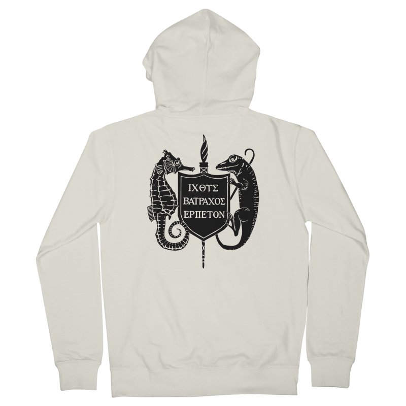 ASIH Black Logo—Large Women Zip-Up Hoody by Amer. Society of Ichthyologists & Herpetologists