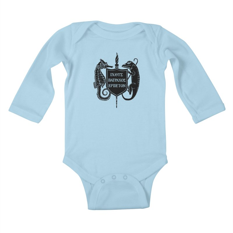 ASIH Black Logo—Large Kids and Babies Baby Longsleeve Bodysuit by Amer. Society of Ichthyologists & Herpetologists
