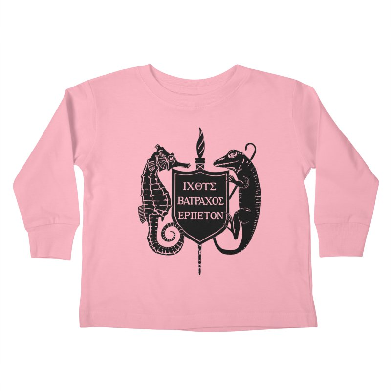 ASIH Black Logo—Large Kids and Babies Toddler Longsleeve T-Shirt by Amer. Society of Ichthyologists & Herpetologists