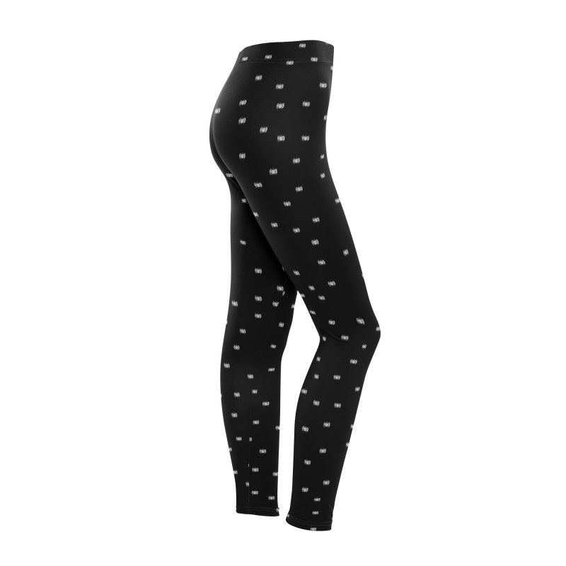 White Logo Leggings Women Bottoms by Amer. Society of Ichthyologists & Herpetologists